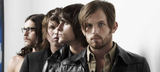kings of leon shot for nme magazine, location elms lester painting rooms