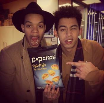 Rizzle Kicks and Pop Chips hip hop collaboration